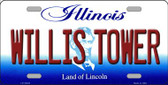 Willis Tower Illinois Background Wholesale Metal Novelty License Plate