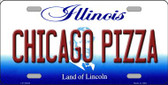 Chicago Pizza Illinois Background Wholesale Metal Novelty License Plate