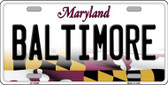 Baltimore Maryland Background Wholesale Metal Novelty License Plate