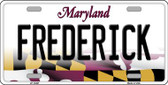 Frederick Maryland Background Wholesale Metal Novelty License Plate