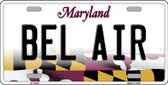 Bel Air Maryland Background Wholesale Metal Novelty License Plate