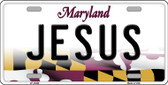 Jesus Maryland Background Wholesale Metal Novelty License Plate