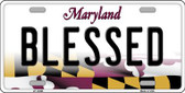 Blessed Maryland Background Wholesale Metal Novelty License Plate