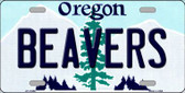 Beavers Oregon Background Wholesale Metal Novelty License Plate