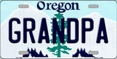 Grandpa Oregon Background Wholesale Metal Novelty License Plate