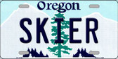 Skier Oregon Background Wholesale Metal Novelty License Plate