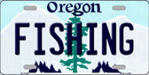 Fishing Oregon Background Wholesale Metal Novelty License Plate