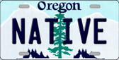 Native Oregon Background Wholesale Metal Novelty License Plate