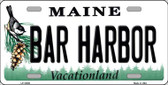 Bar Harbor Maine Background Wholesale Metal Novelty License Plate