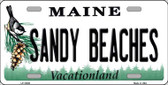 Sandy Beaches Maine Background Wholesale Metal Novelty License Plate