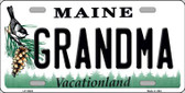 Grandma Maine Background Wholesale Metal Novelty License Plate