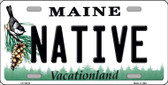 Native Maine Background Wholesale Metal Novelty License Plate