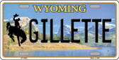 Gillette Wyoming Background Wholesale Metal Novelty License Plate