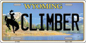 Climber Wyoming Background Wholesale Metal Novelty License Plate
