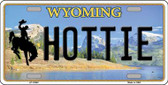 Hottie Wyoming Background Wholesale Metal Novelty License Plate