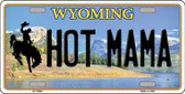 Hot Mama Wyoming Background Wholesale Metal Novelty License Plate
