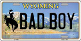 Bad Boy Wyoming Background Wholesale Metal Novelty License Plate