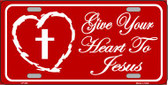 Give Your Heart To Jesus Wholesale Metal Novelty License Plate LP-242