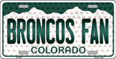 Broncos Fan Colorado Background Novelty Wholesale Metal License Plate