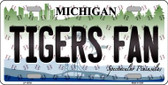 Tigers Fan Michigan Background Novelty Wholesale Metal License Plate