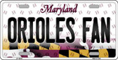 Orioles Fan Maryland Background Novelty Wholesale Metal License Plate
