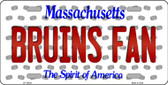 Bruins Fan Massachusetts Background Novelty Wholesale Metal License Plate