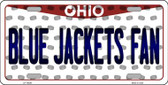 Blue Jackets Fan Ohio Background Novelty Wholesale Metal License Plate