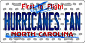 Hurricanes Fan North Carolina Background Novelty Wholesale Metal License Plate