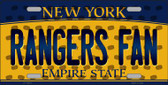 Rangers Fan New York Background Novelty Wholesale Metal License Plate