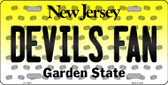 Devils Fan New Jersey Background Novelty Wholesale Metal License Plate
