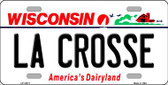 La Crosse Wisconsin Background Wholesale Metal Novelty License Plate