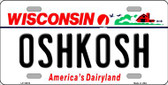 Oshkosh Wisconsin Background Wholesale Metal Novelty License Plate