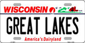 Great Lakes Wisconsin Background Wholesale Metal Novelty License Plate