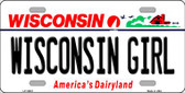 Wisconsin Girl Wisconsin Background Wholesale Metal Novelty License Plate