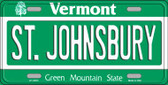 St Johnsbury Vermont Background Wholesale Metal Novelty License Plate