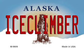 Ice Climber Alaska State Background Wholesale Novelty Metal Magnet