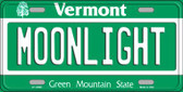 Moonlight Vermont Background Wholesale Metal Novelty License Plate