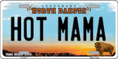 Hot Mama North Dakota Background Wholesale Metal Novelty License Plate