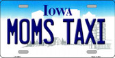 Moms Taxi Iowa Background Wholesale Metal Novelty License Plate