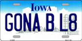 Gona B L8 Iowa Background Wholesale Metal Novelty License Plate