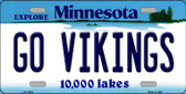 Go Vikings Minnesota Background Wholesale Metal Novelty License Plate