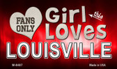 This Girl Loves Her Louisville Wholesale Novelty Metal Magnet