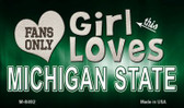 This Girl Loves Her Michigan State Wholesale Novelty Metal Magnet