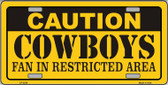 Caution Cowboys Wholesale Metal Novelty License Plate LP-2520