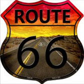 Route 66 Highway Shield Wholesale Novelty Metal Magnet