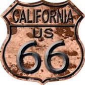 Route 66 California Rusty Highway Shield Wholesale Novelty Metal Magnet