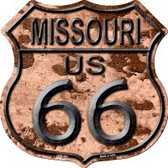Route 66 Missouri Rusty Highway Shield Wholesale Novelty Metal Magnet