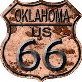 Route 66 Oklahoma Rusty Highway Shield Wholesale Novelty Metal Magnet