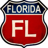 Florida Highway Shield Novelty Metal Magnet