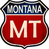 Montana Highway Shield Wholesale Novelty Metal Magnet